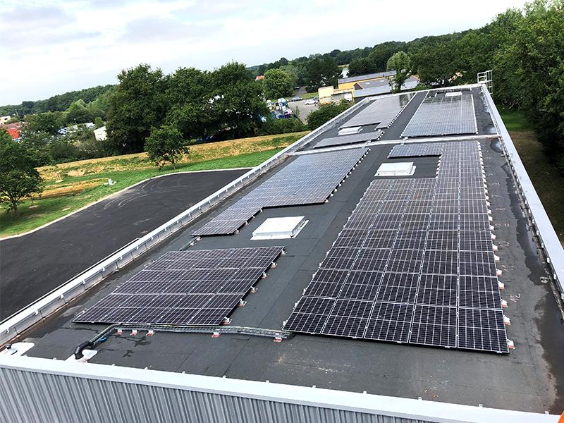 Installation solaire réalisée par IEL