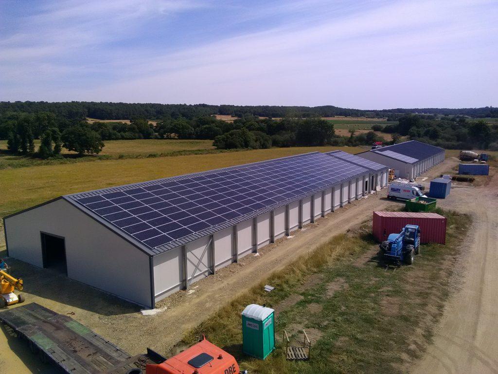 Bâtiment solaire agricole FS Druais