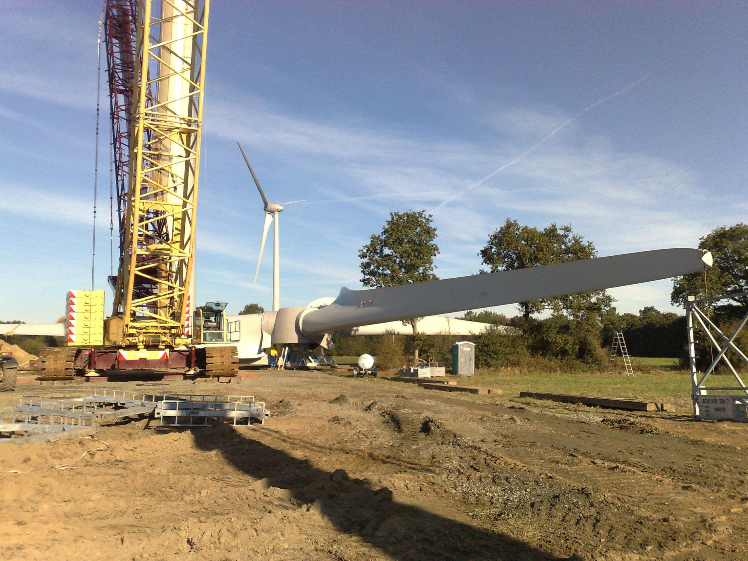 Construction d'une éolienne avec l'AMO d'IEL