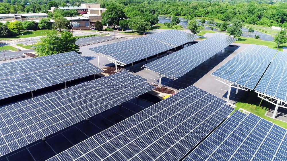 Ombrières photovoltaïques pour parking